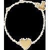 demi fine heart line bracelet - Bransoletka -
