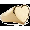 demi fine heart signet ring - Rings -