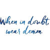 denim - Texts -