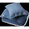 denim comforter and pillow - 室内 -