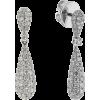 diamond drop earrings - Uhani -