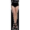doll parts legs crossed black shoes - People -