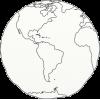 drawn globe earth doodle - Illustrations -