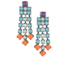 Earrings Colorful Earrings - Uhani -