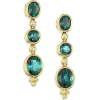 earrings blue green - Earrings -