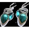earrings blue green - Ohrringe -