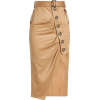 elf-Portrait Asymmetric Cotton Skirt  - Skirts -