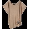 ジル スチュアート[JILLSTUART] アシメトリーラメトップスベージュ - T-shirts - ¥11,550  ~ $102.62