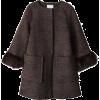 アルファエー【再入荷】袖ファー付きノーカラーコート - Jacket - coats - ¥36,750  ~ $326.53