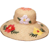 embroidered straw hat - Hat -