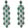 emerald green earrings - Kolczyki -