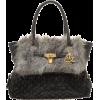 ラビットファー南京錠BAG - Hand bag - ¥9,345  ~ $83.03