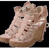 リボン付きボーンサンダル - Sandals - ¥8,295  ~ $73.70