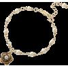 花モチーフ付ミニパールブレスレット - Bracelets - ¥2,625  ~ $23.32