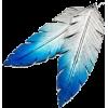feather earrings - Серьги -