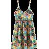 female suspenders summer graffiti print  - 连衣裙 - $27.99  ~ ¥187.54