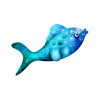 Fish Blue - Animals -