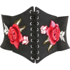 floral corset tie up belt - Belt -