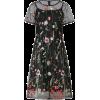floral embroidered dress - Dresses -