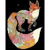 floral fox - Animals -