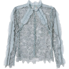 floral lace blouse - Long sleeves shirts -