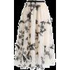 floral ruffle skirt - Röcke -