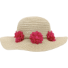 floral straw hat - Chapéus -