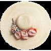 floral straw hat - Hat -