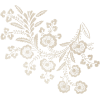 flower white lace  - Items -