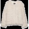 fuzzy fur jacket - アウター -