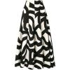 geometric print circle skirt - Skirts -