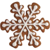 gingerbread snowflake - Atykuły spożywcze -