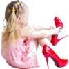girl with mommy shoes - Uncategorized -