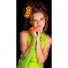 Girl Green Casual People - Personas -