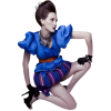 Girl Blue Casual People - People -