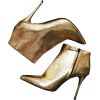gold ankle boots - Buty wysokie -