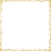 gold confetti frame - Frames -