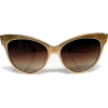 golden cat-eye sunglasses - Occhiali da sole -