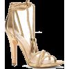 gold sandal heel - Sandals -