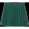 green pleated school kawaii skirt - Skirts - $13.96