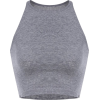 grey crop top - Camisas sem manga -