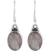 grey oval earrings - Brincos -
