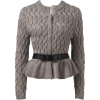 grey sweater1 - Pullovers -