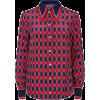 gucci rhombus print shirt - Hemden - kurz -