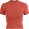 half neck high waist short sleeve - Camisola - curta - $15.99  ~ 13.73€