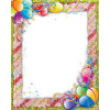 happy birthday frame with balloons - Ramy -