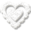 heart lace valentine white - Animals -