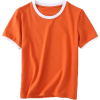 hit color round neck short sleeve - T-shirts - $19.99