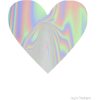 holographic heart shape - Illustrations -