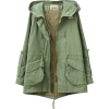 hooded big pockets wind coat - Chaquetas -